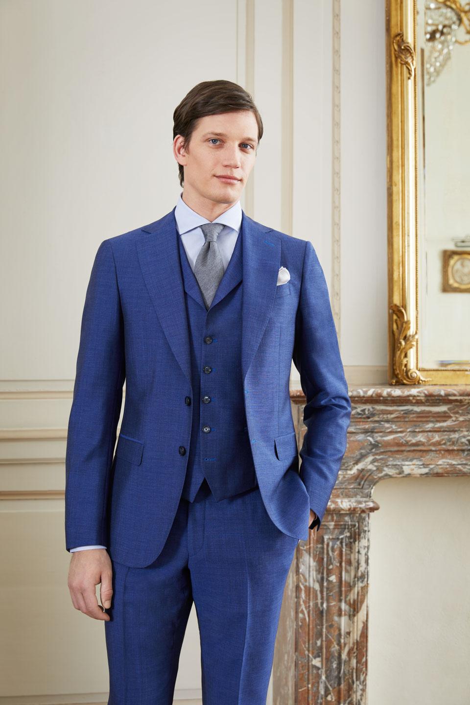 costume bleu mariage rouen