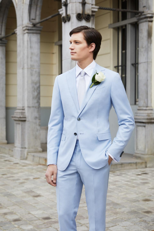 costume mariage bleu