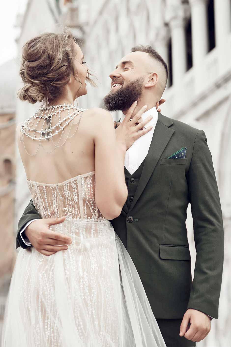 costume sur mesure mariage vert